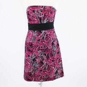 Black pink ANN TAYLOR LOFT sheath dress 0P